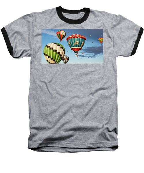 Balloons Away Baseball T-Shirt by Dave Files