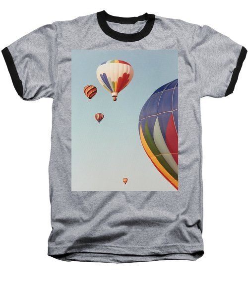Balloons High In The Sky Baseball T-Shirt by Belinda Lee