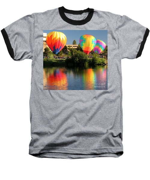 Baseball T-Shirt featuring the photograph Balloons Over Bend Oregon by Kevin Desrosiers