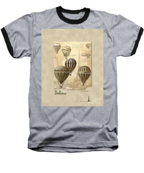 Balloons With Sepia Baseball T-Shirt