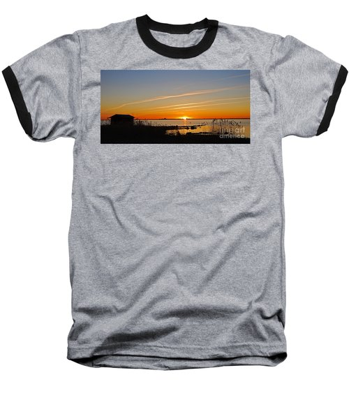 Baltic Sea Sunset Baseball T-Shirt