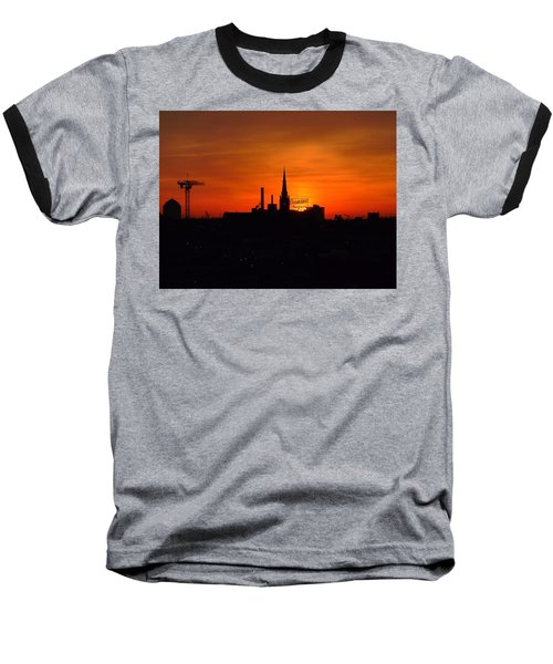 Baltimore Dawn Baseball T-Shirt by Robert Geary