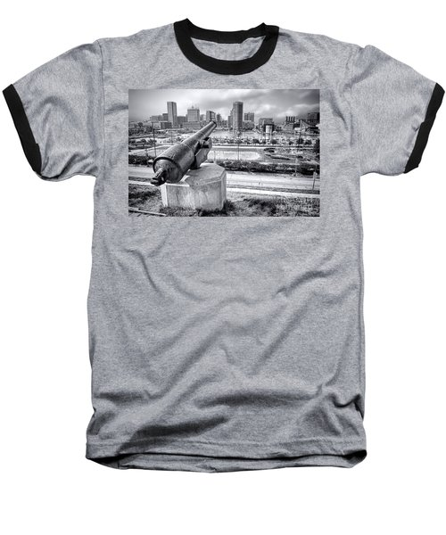 Baltimore Inner Harbor Skyline Baseball T-Shirt
