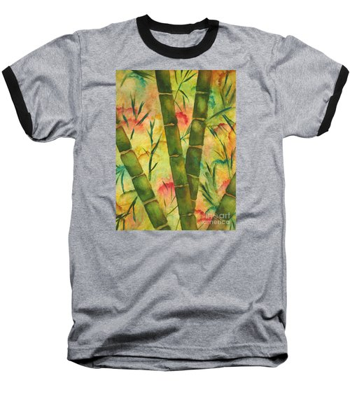 Bamboo Garden Baseball T-Shirt by Chrisann Ellis