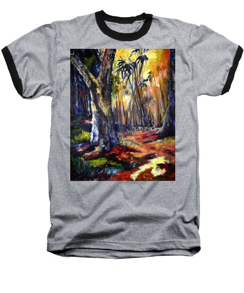 Bamboo Garden With Bunny Baseball T-Shirt