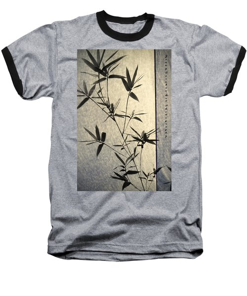 Bamboo Leaves Baseball T-Shirt by Jenny Rainbow