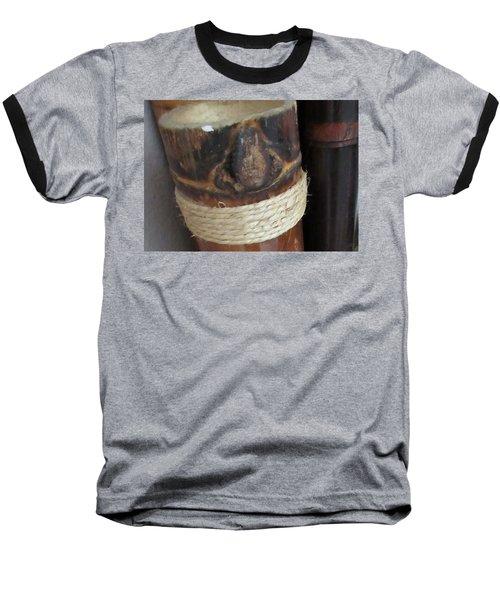 Bamboo Node On Rain Stick Baseball T-Shirt