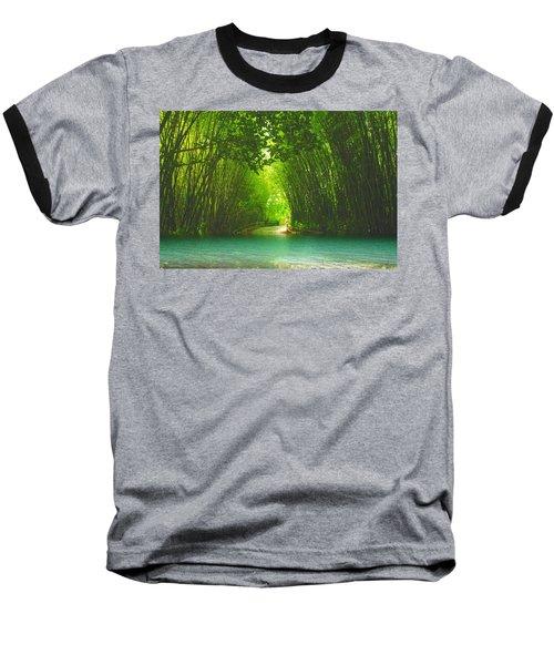 bamboo path to  Blue Lagoon  Baseball T-Shirt