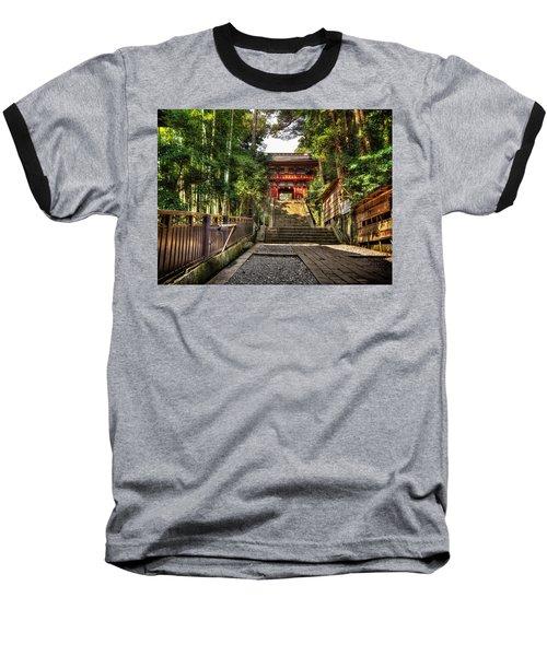 Baseball T-Shirt featuring the photograph Bamboo Temple by John Swartz
