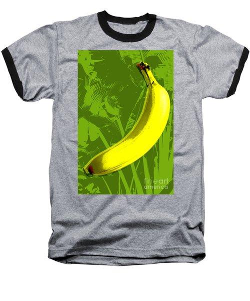 Baseball T-Shirt featuring the digital art Banana Pop Art by Jean luc Comperat