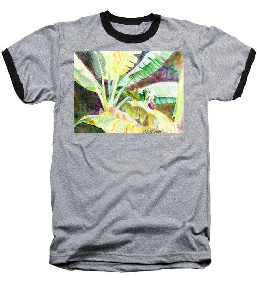 Banana Tree Baseball T-Shirt by C Sitton