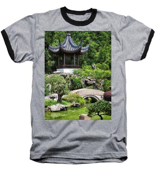 Baseball T-Shirt featuring the photograph Bansi Garden by John Swartz
