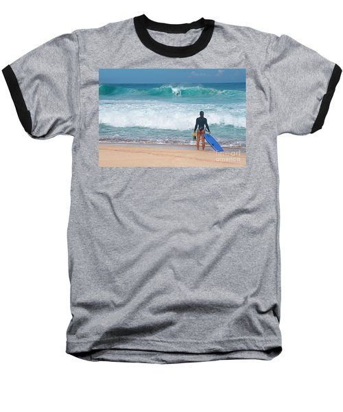 Banzai Pipeline Aqua Dream Baseball T-Shirt by Aloha Art