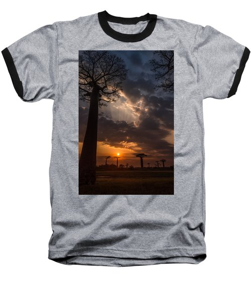 Baobab Sunrays Baseball T-Shirt