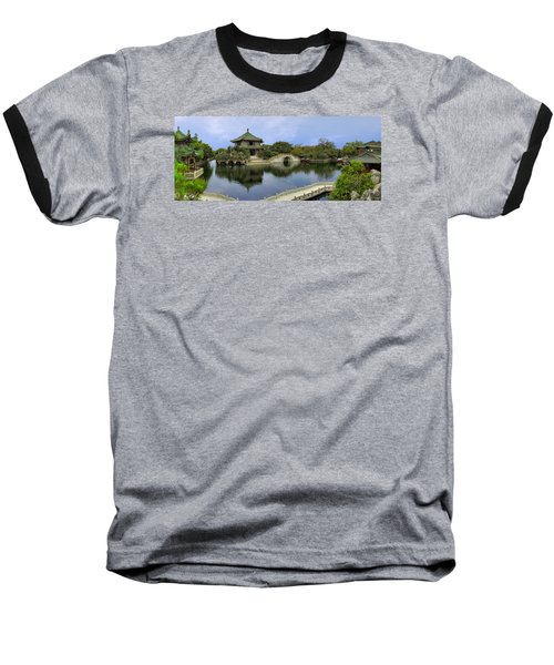 Baomo Garden Temple Baseball T-Shirt by Nicola Nobile