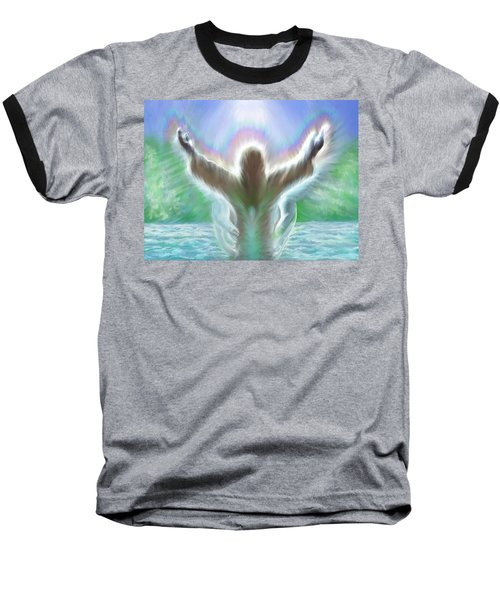 Baptism Of Yshuah Baseball T-Shirt by Hidden  Mountain