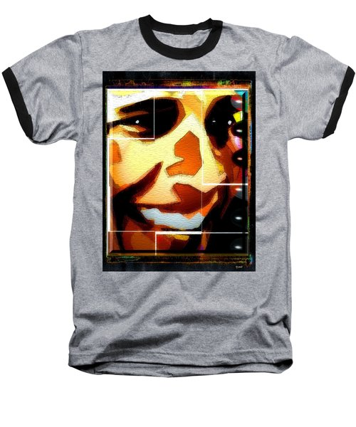 Baseball T-Shirt featuring the digital art Barack Obama by Daniel Janda