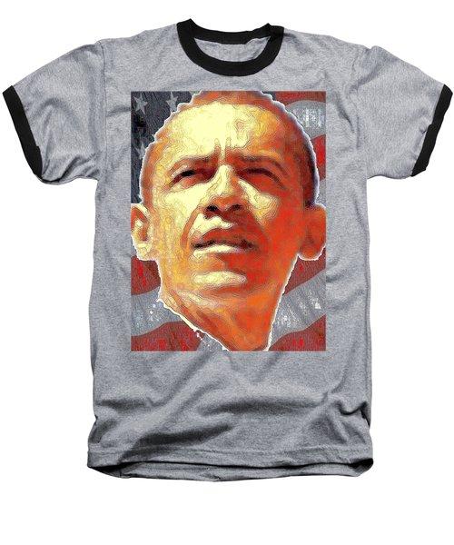 Barack Obama Portrait - American President 2008-2016 Baseball T-Shirt