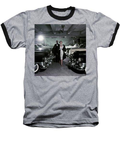 Barbara Mullen With Cars Baseball T-Shirt by John Rawlings
