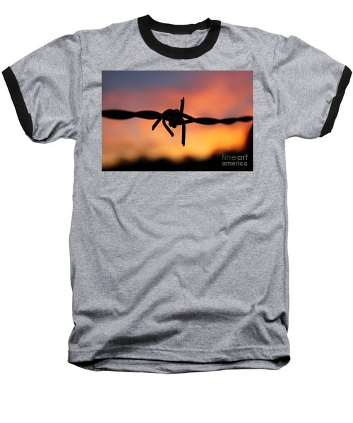 Baseball T-Shirt featuring the photograph Barbed Silhouette by Vicki Spindler