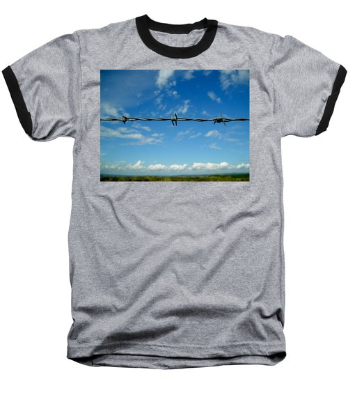 Baseball T-Shirt featuring the photograph Barbed Sky by Nina Ficur Feenan