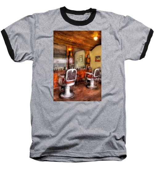 Barber - The Barber Shop II Baseball T-Shirt by Mike Savad