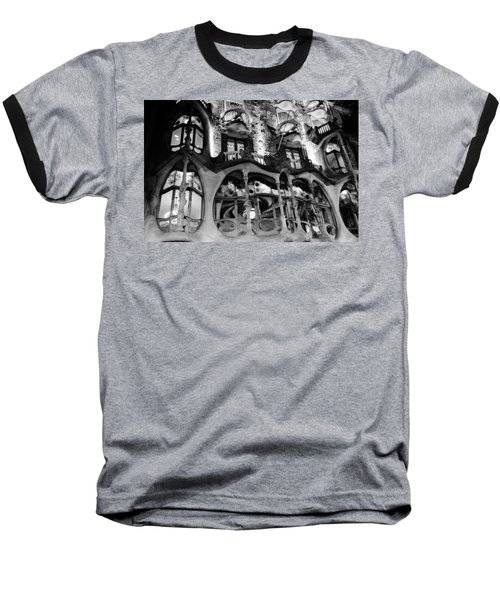 Barcelona - Casa Batllo Baseball T-Shirt