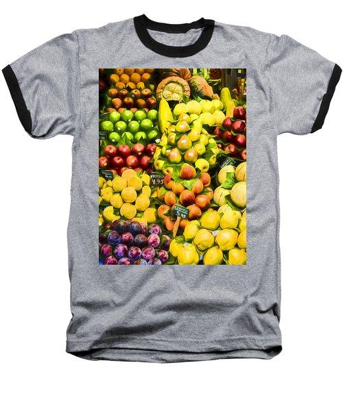 Baseball T-Shirt featuring the photograph Barcelona Market Fruit by Steven Sparks