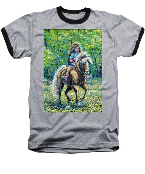 Barefoot Rider Baseball T-Shirt