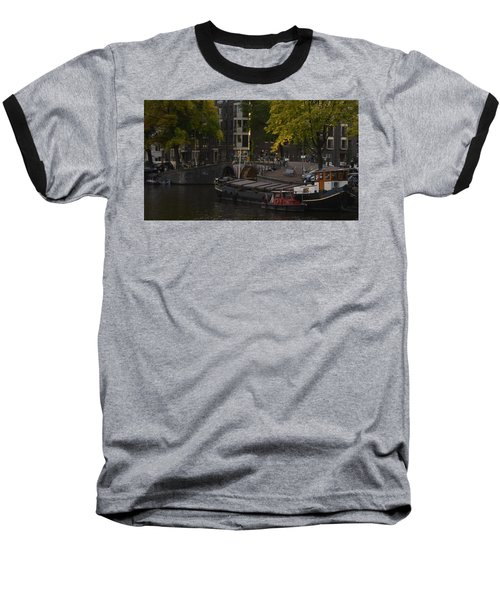 barges in Amsterdam Baseball T-Shirt