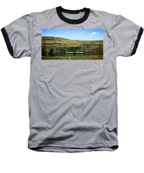 Barges On The Columbia Baseball T-Shirt