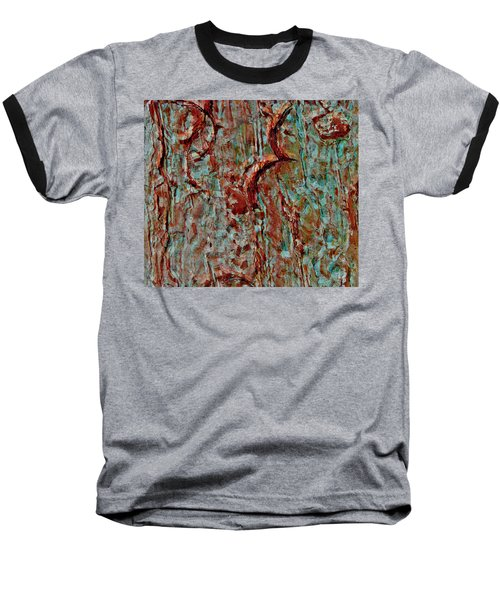 Baseball T-Shirt featuring the digital art Bark Layered by Stephanie Grant