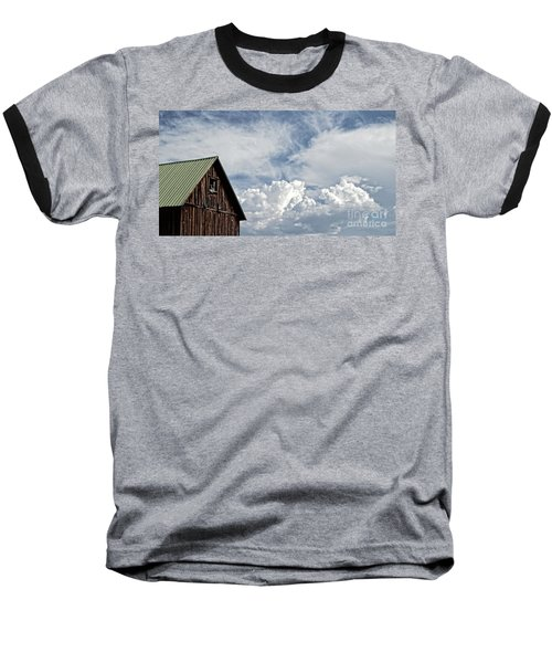 Baseball T-Shirt featuring the photograph Barn And Clouds by Joseph J Stevens