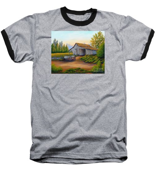 Barn And Wagon Baseball T-Shirt