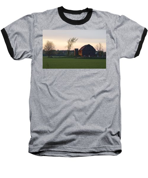 Barn At Dusk Baseball T-Shirt