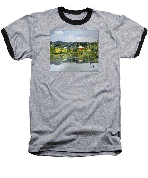 Barn At Little Elk Lake Baseball T-Shirt