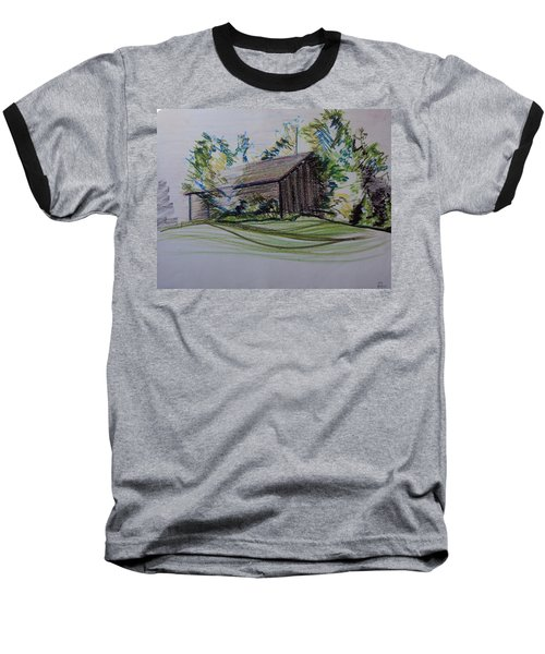 Old Barn At Wason Pond Baseball T-Shirt