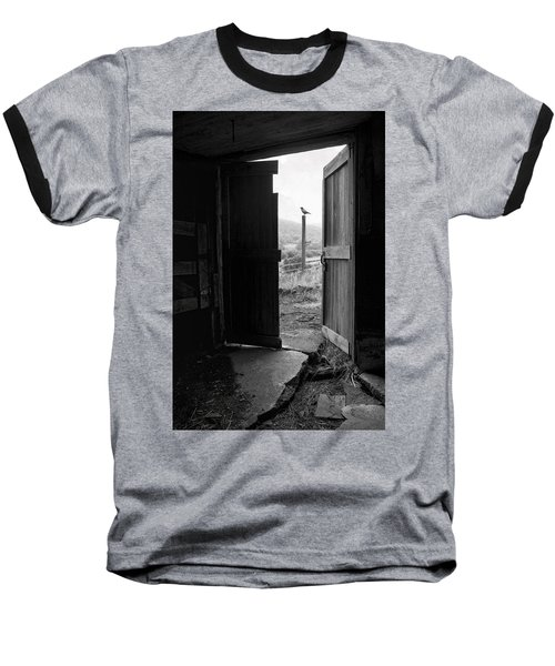 Barn Door - View From Within - Old Barn Picture Baseball T-Shirt