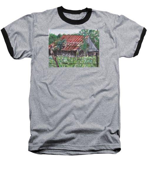 Barn In Montana Baseball T-Shirt