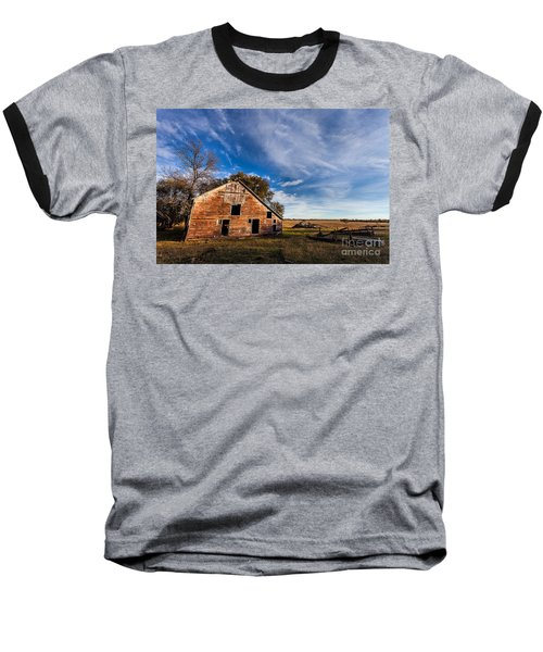 Barn In The Midwest Baseball T-Shirt by Steven Reed
