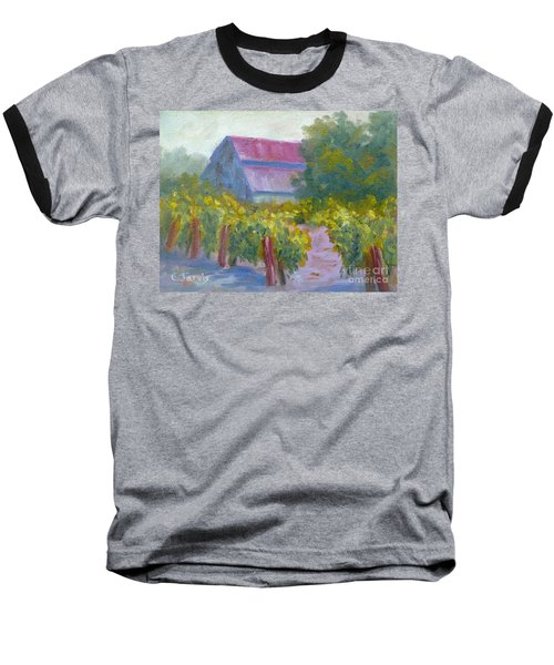 Barn In Vineyard Baseball T-Shirt