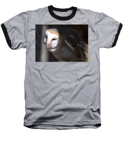 Barn Owl 1 Baseball T-Shirt by Chris Flees