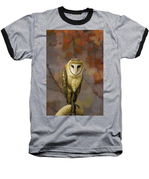 Barn Owl Baseball T-Shirt