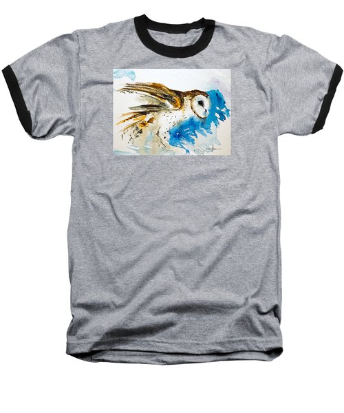 Da145 Barn Owl Ruffled Daniel Adams Baseball T-Shirt