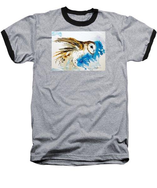 Da145 Barn Owl Ruffled Daniel Adams Baseball T-Shirt