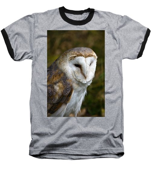 Barn Owl Baseball T-Shirt by Scott Carruthers