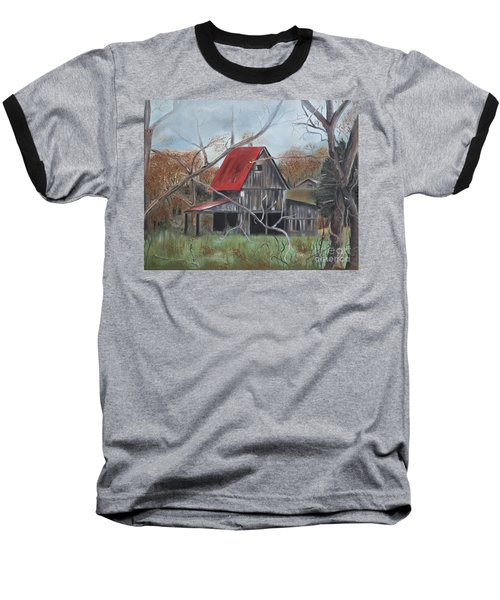 Barn - Red Roof - Autumn Baseball T-Shirt