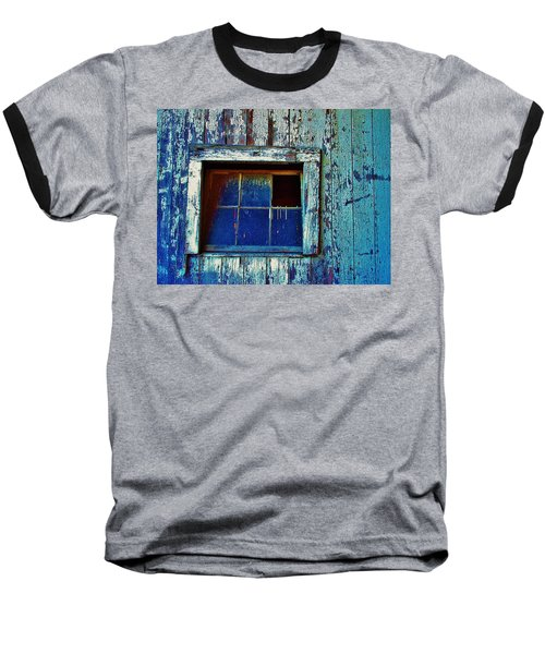 Barn Window 1 Baseball T-Shirt by Daniel Thompson
