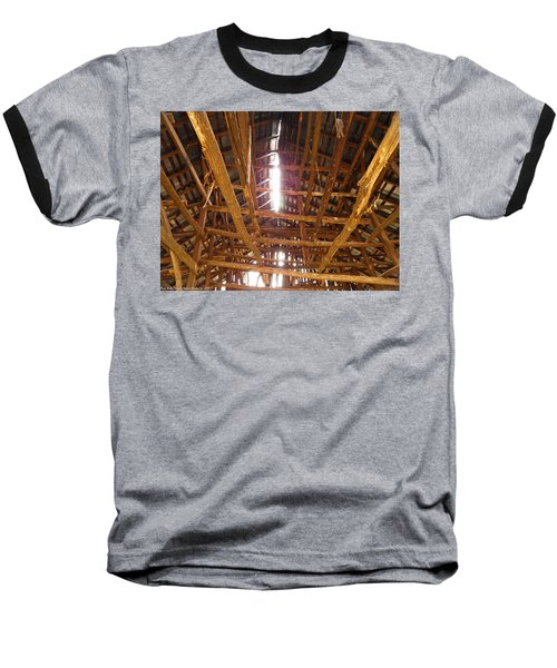 Baseball T-Shirt featuring the photograph Barn With A Skylight by Nick Kirby