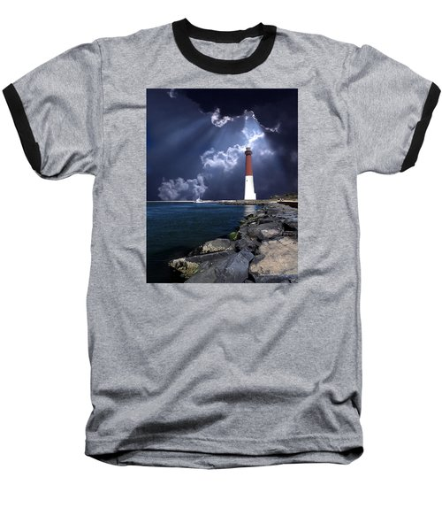 Barnegat Inlet Lighthouse Nj Baseball T-Shirt